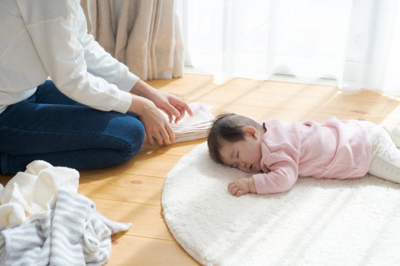 赤ちゃん,洗濯,寝る