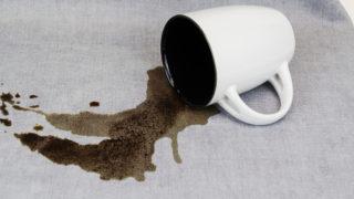 コーヒー,染み抜き,服