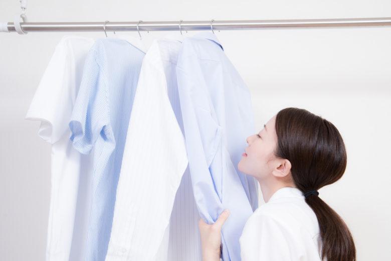 洗濯,嗅ぐ
